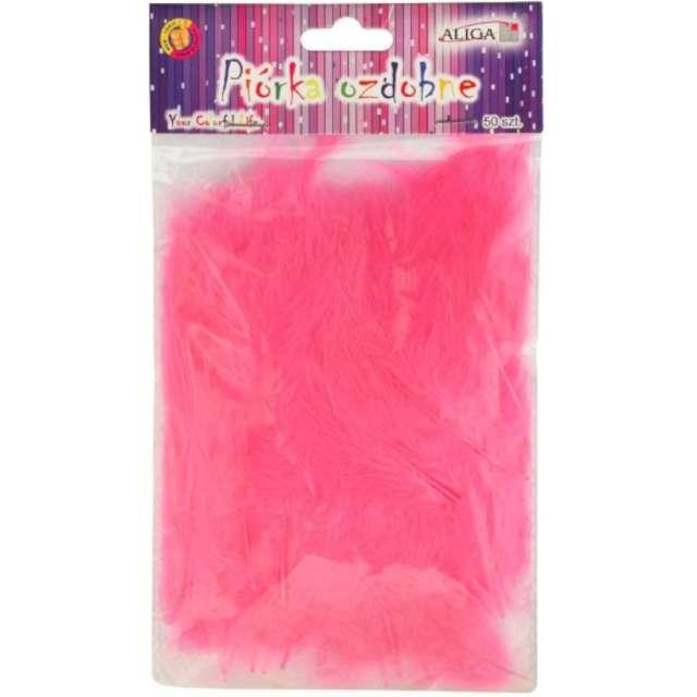"""Piórka dekoracyjne """"Classic"""", różowe, Aliga, 10-12 cm, 50 szt"""
