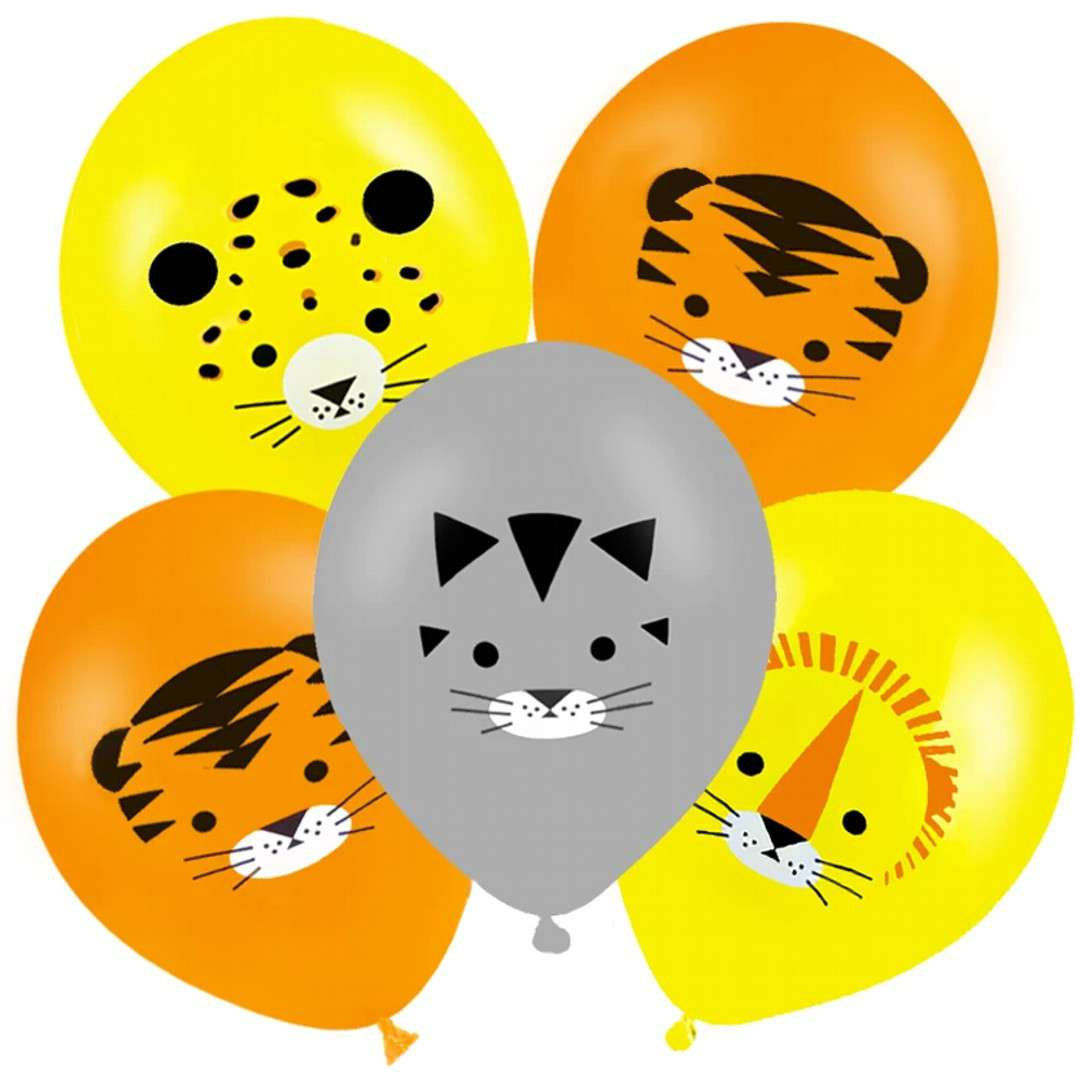 "Balony ""Safari - Dzikie Koty"", PartyPal, 12"", 6 szt"