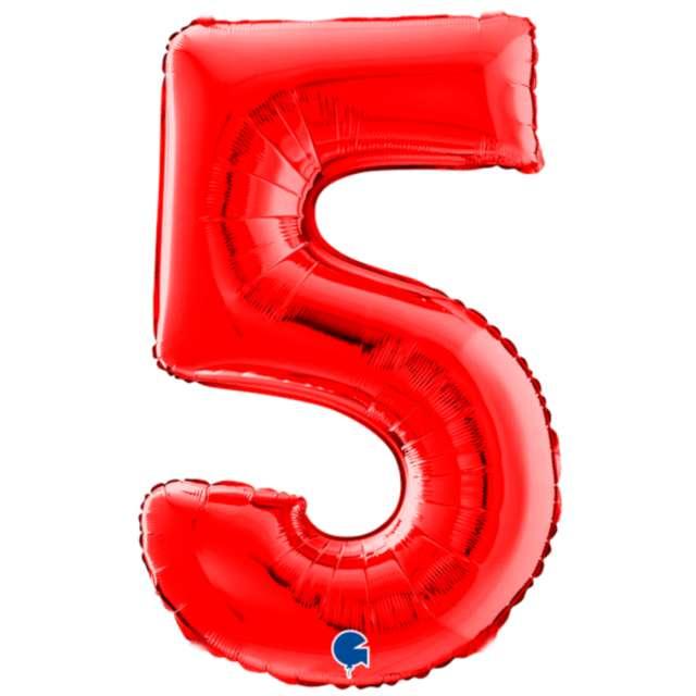 """Balon foliowy """"Cyfra 5"""", czerwony, Grabo, 26"""""""