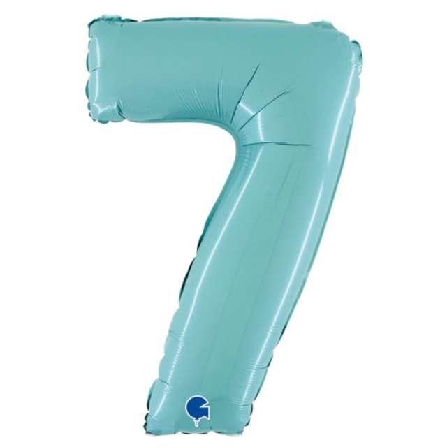 """Balon foliowy """"Cyfra 7"""", niebieski pastel, Grabo, 26"""""""