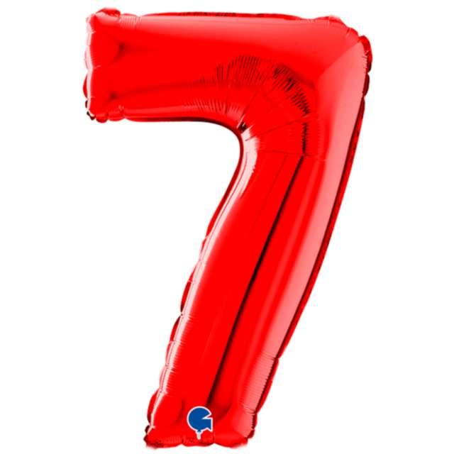 """Balon foliowy """"Cyfra 7"""", czerwony, Grabo, 26"""""""