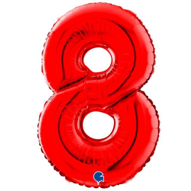 """Balon foliowy """"Cyfra 8"""", czerwony, Grabo, 26"""""""