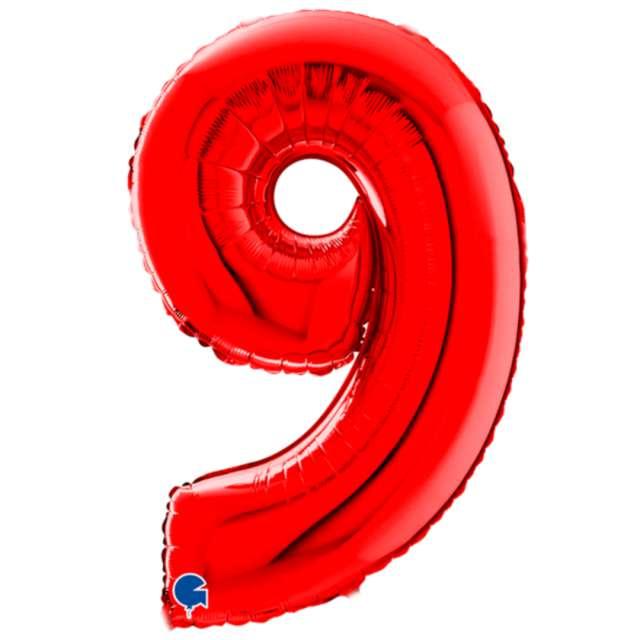 """Balon foliowy """"Cyfra 9"""", czerwony, Grabo, 26"""""""