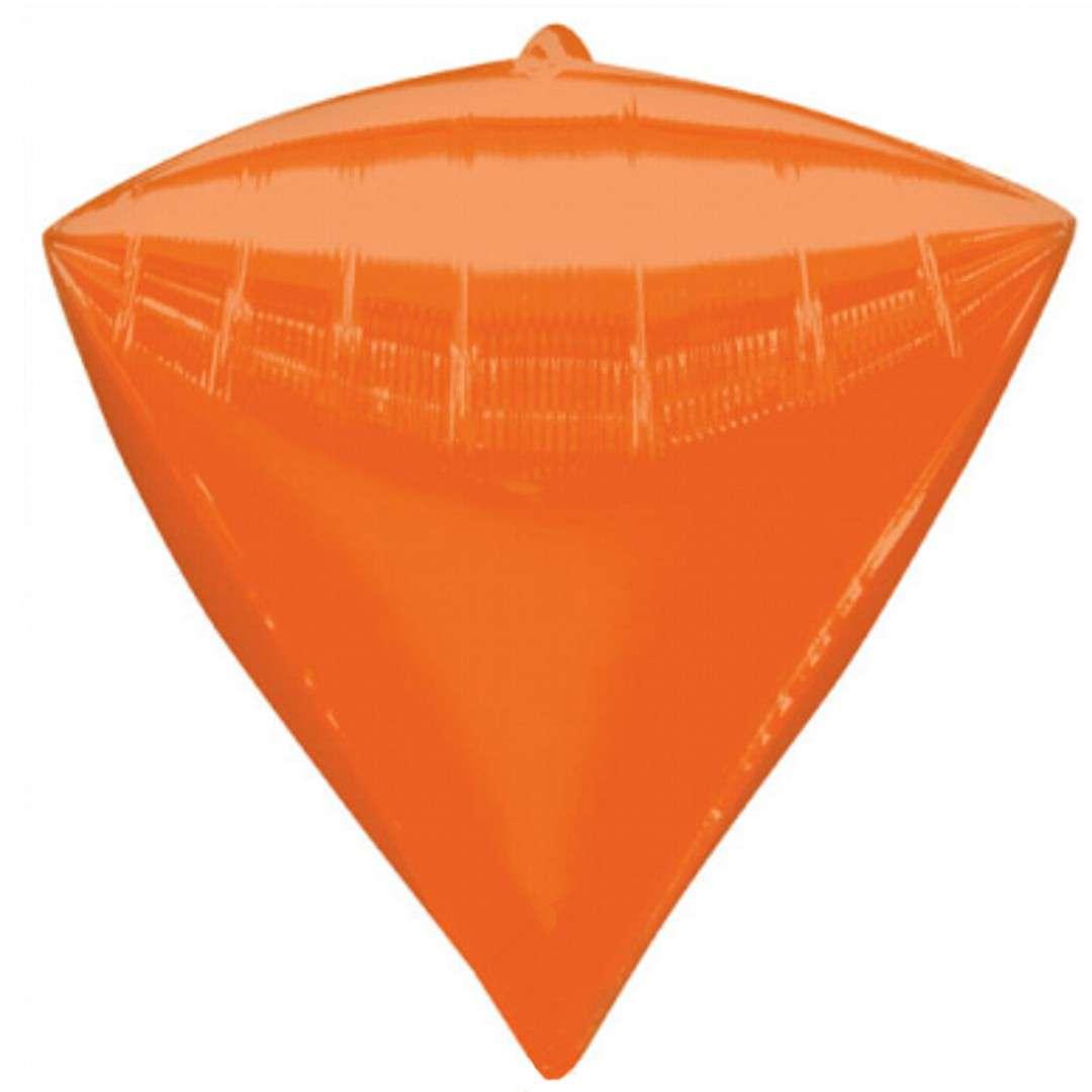 """Balon foliowy """"Diament"""", pomarańczowy, AMSCAN, 17"""" DMZ"""