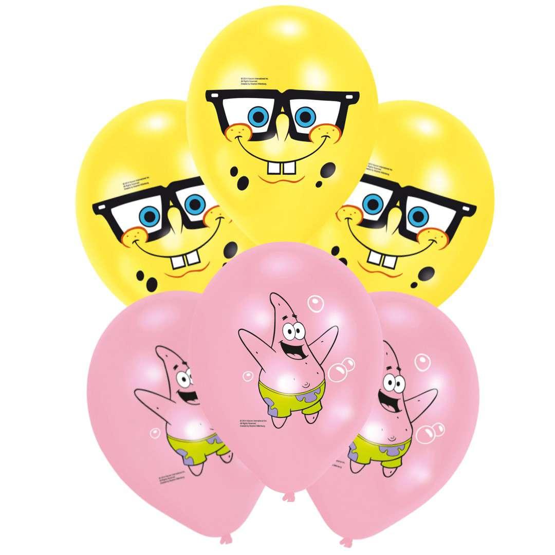 """Balony """"Spongebob Kanciastoporty"""", Amscan, 6 szt"""