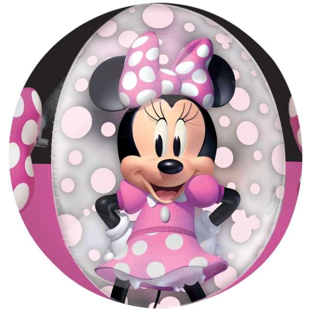 "Balon foliowy ""Kula myszka Minnie"", AMSCAN, 15"", ORB"