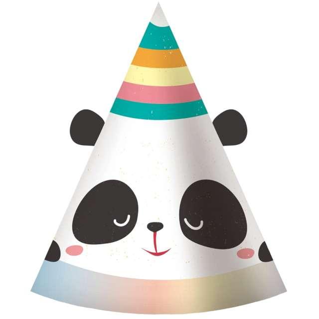 """Czapeczki papierowe """"Panda z uszami"""", Godan, 6 szt"""