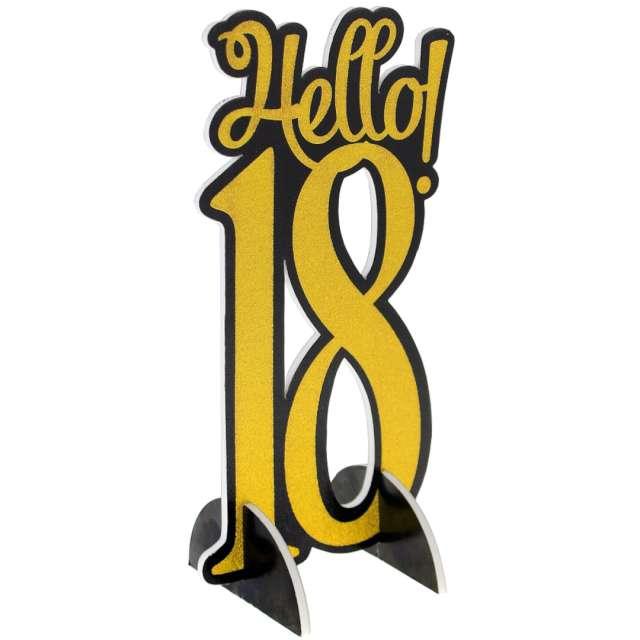 """Dekoracja """"Hello 18"""", złota, Godan,30 cm"""
