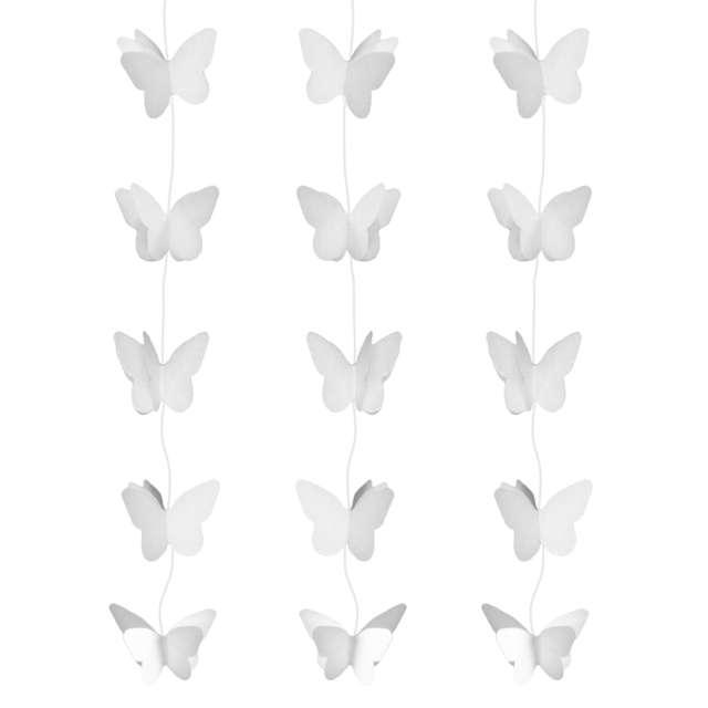 """Dekoracja wisząca """"Motylki Pastelowe"""", białe, Godan, 200 cm"""