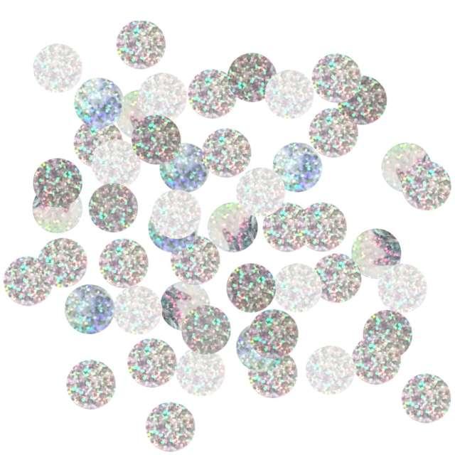 """Konfetti """"Kółeczka"""", Godan, srebrny holograficzny, 2 cm, 250 g"""