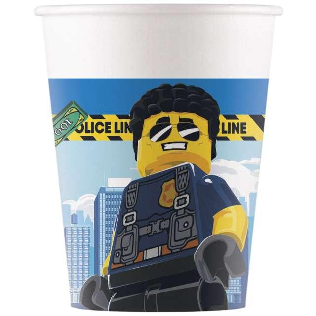 """Kubeczki papierowe """"Lego City"""", Procos, 200 ml, 8 szt"""