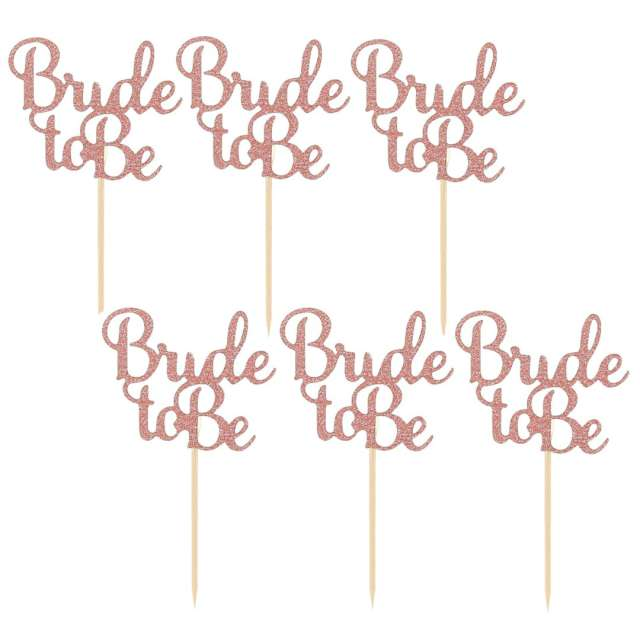 """Pikery """"Bride to Be"""", różowe złoto, Godan, 12 szt"""