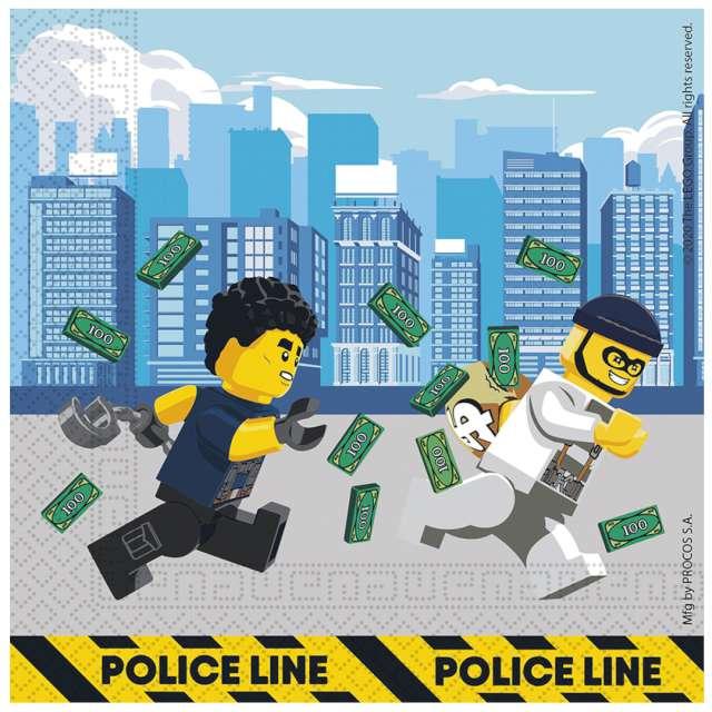 """Serwetki """"Lego City"""", Procos, 33 cm, 16 szt"""