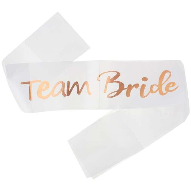 """Szarfa """"Team Bride"""", różowe złoto, Godan"""