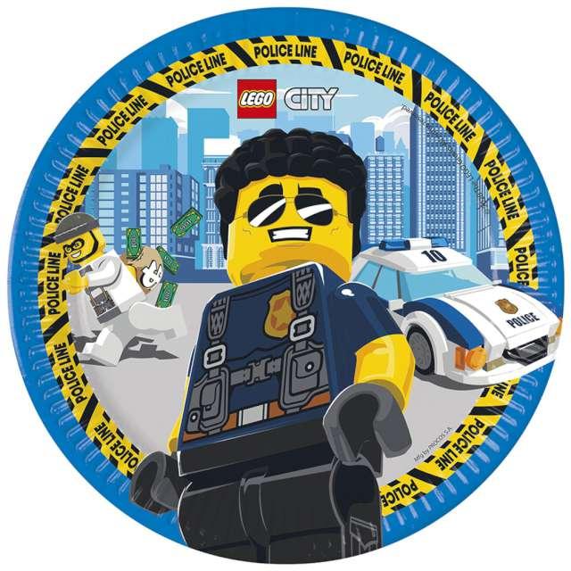 """Talerzyki """"Lego City"""", Procos, 23 cm, 8 szt"""