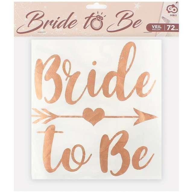 """Welon """"Bride to Be - Go Girls"""", różowe złoto, Godan, 72 cm"""