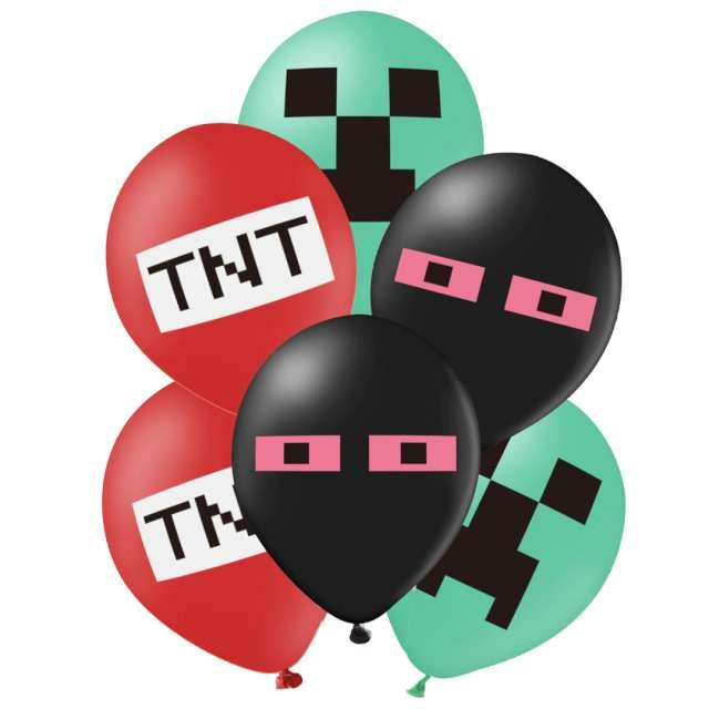 "Balony ""Piksel - Mix"", PartyPal, 12"", 12 szt"