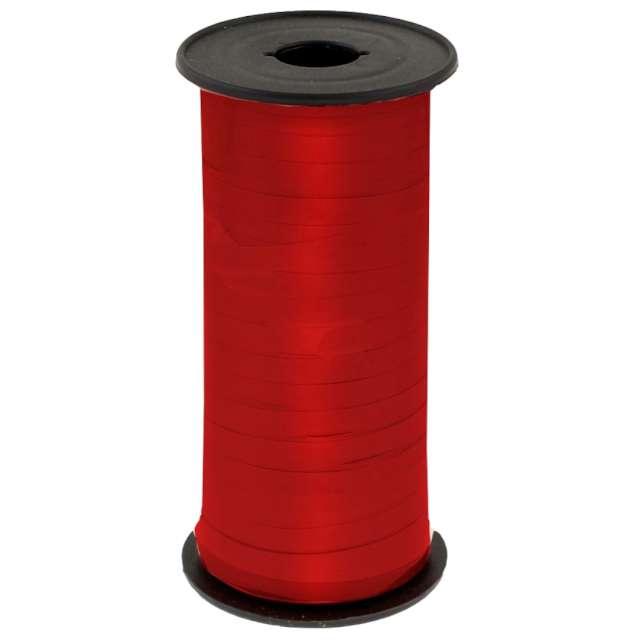 """Wstążka do balonów """"Lustrzana"""", czerwona, Godan, 5 mm/92 m"""