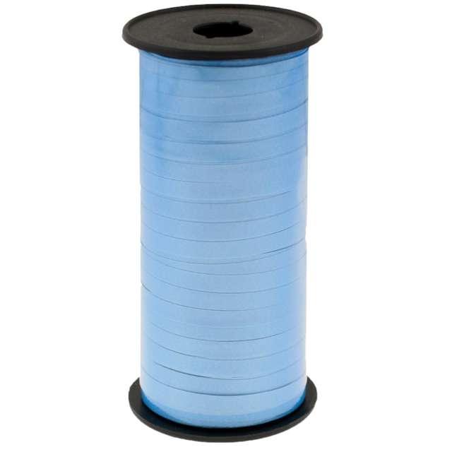 """Wstążka do balonów """"Lustrzana"""", jasnoniebieska, Godan, 5 mm/92 m"""