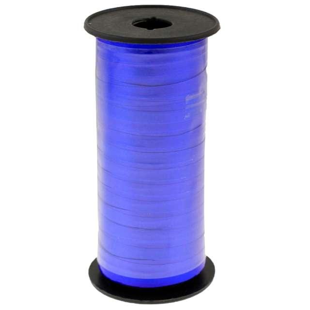 """Wstążka do balonów """"Lustrzana"""", niebieska, Godan, 5 mm/92 m"""