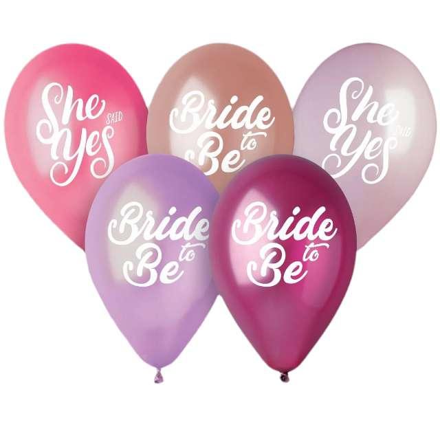 """Balony """"Ladies Night - Premium"""", różowy mix, Gemar, 13"""", 5 szt"""