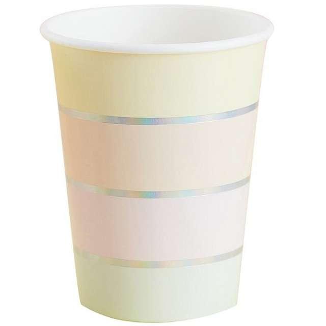 """Kubeczki papierowe """"Pastel Party"""", Godan, 266 ml, 8 szt"""