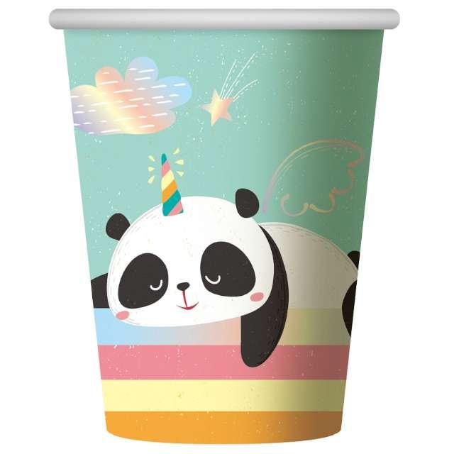 """Kubeczki papierowe """"Rozmarzona Panda"""", Godan, 266 ml, 6 szt"""
