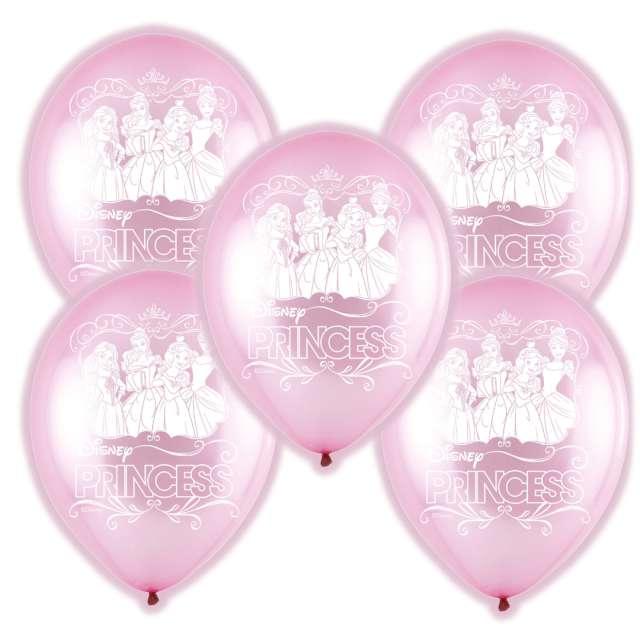 """Balony """"Księżniczki Disneya LED"""", różowe, Amscan, 11"""", 5 szt"""