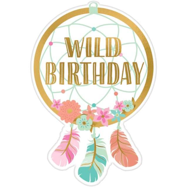 """Zaproszenia urodzinowe """"Wild Birthday"""", Amscan, 8 szt"""