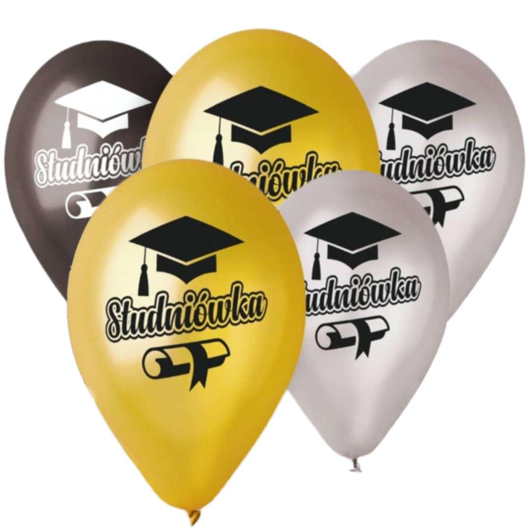 """Balony """"Studniówka"""", 13"""", Gemar, 5 szt."""