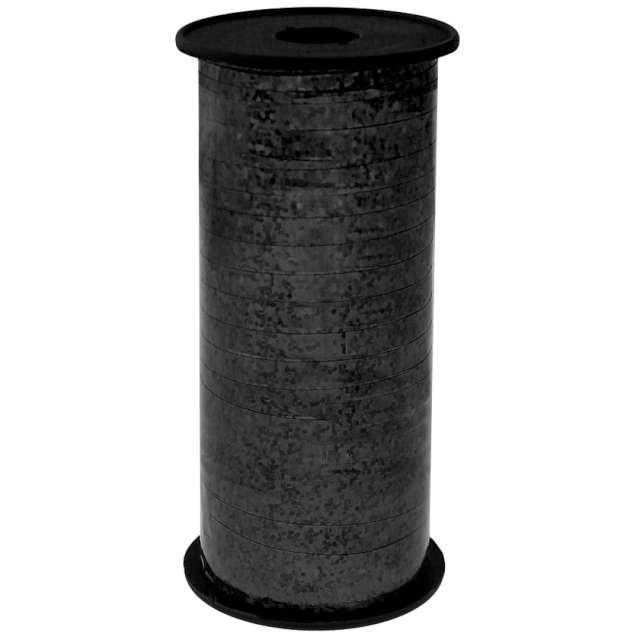 Wstążka do balonów Holograficzna czarna Godan 5 mm/92 m