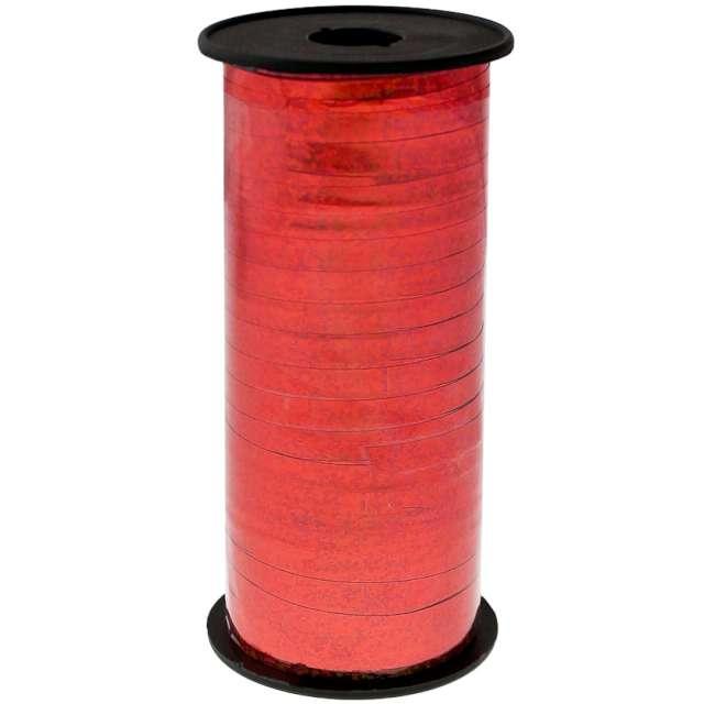 """Wstążka do balonów """"Holograficzna"""", czerwona, Godan, 5 mm/92 m"""