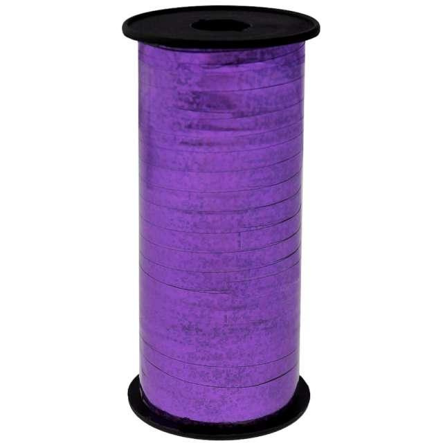 Wstążka do balonów Holograficzna fioletowa Godan 5 mm/92 m
