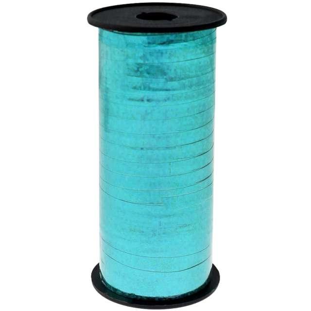 Wstążka do balonów Holograficzna niebieska jasna Godan 5 mm/92 m