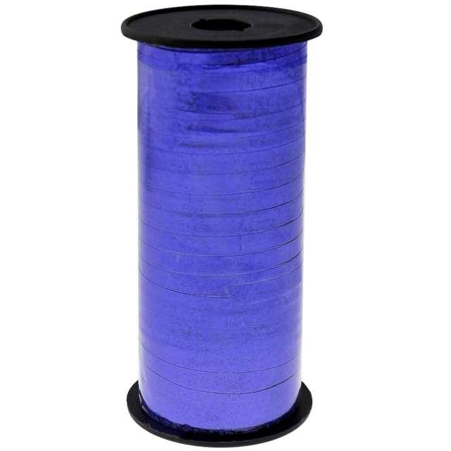 """Wstążka do balonów """"Holograficzna"""", niebieska, Godan, 5 mm/92 m"""