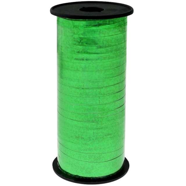 """Wstążka do balonów """"Holograficzna"""", zielona, Godan, 5 mm/92 m"""