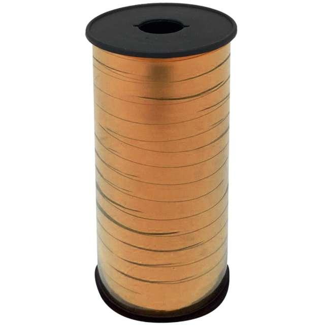 """Wstążka do balonów """"Metaliczna"""", różowe złoto, Godan, 5 mm/92 m"""