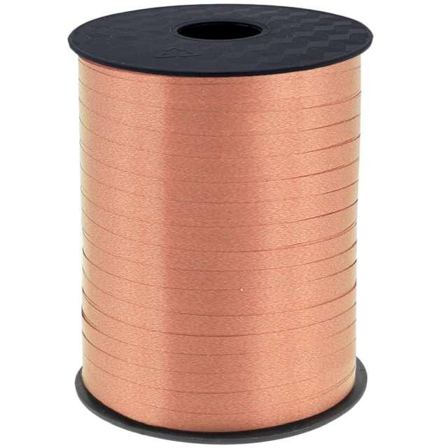 """Wstążka do balonów """"Pastelowa"""", różowe złoto, Godan, 5 mm/458 m"""