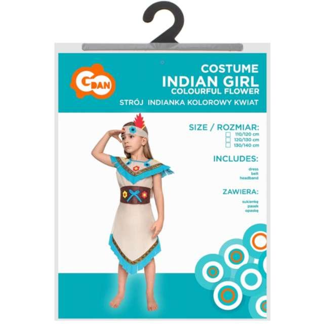 Strój dla dzieci Indianka kolorowy kwiat Godan rozm. 120-130