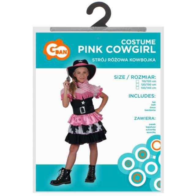 Strój dla dzieci Różowa kowbojka Godan rozm. 110-120