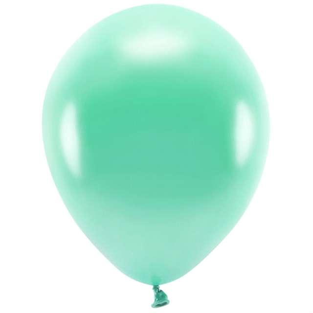 """Balony """"Ekologiczne"""", miętowy ciemny metalik, Partydeco, 12"""", 10 szt"""