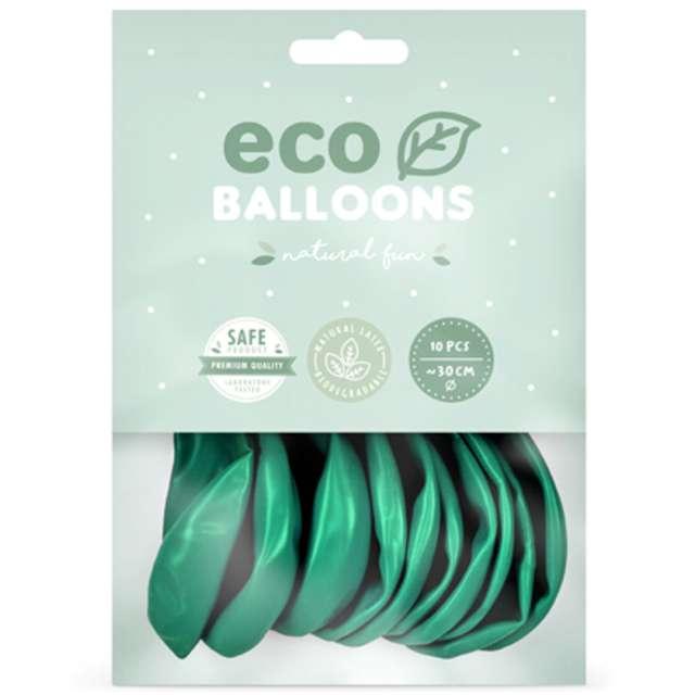 Balony Ekologiczne miętowy ciemny metalik Partydeco 12 10 szt