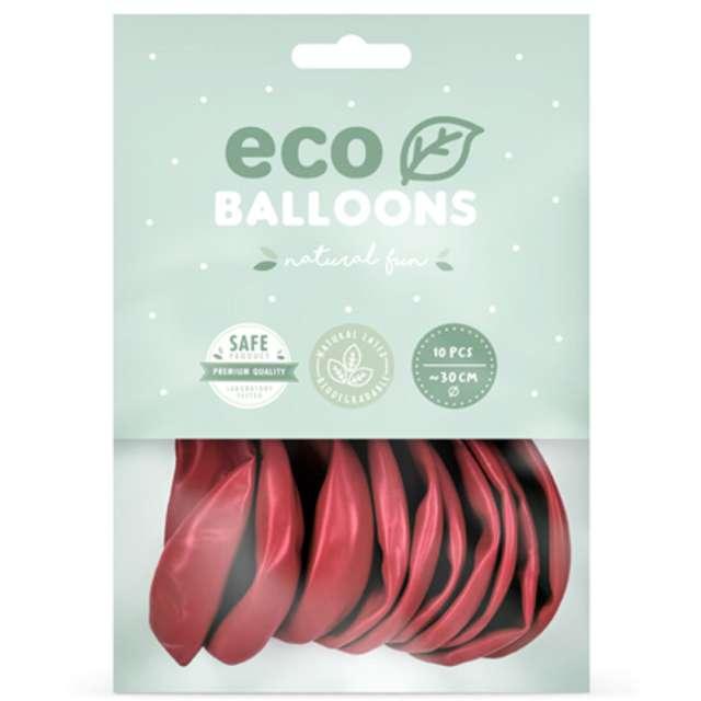 Balony Ekologiczne czerwony metalik Partydeco 12 10 szt