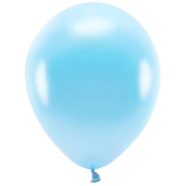 """Balony """"Ekologiczne"""", niebieski jasny metalik, Partydeco, 12"""", 10 szt"""