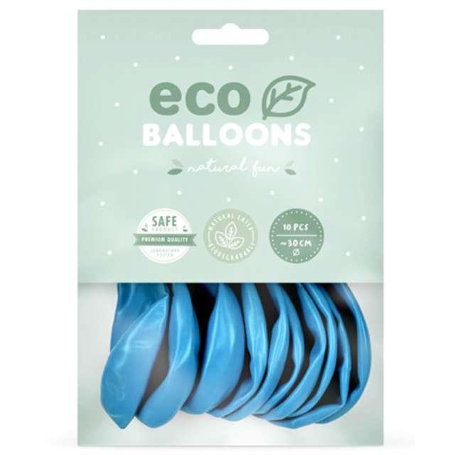Balony Ekologiczne niebieski jasny metalik Partydeco 12 10 szt
