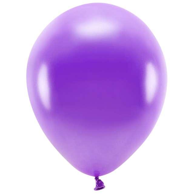 """Balony """"Ekologiczne"""", fioletowy metalik, Partydeco, 12"""", 10 szt"""
