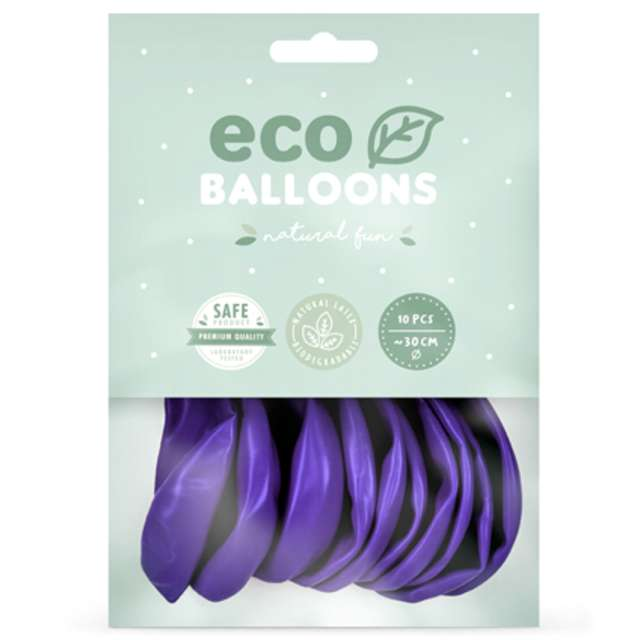 Balony Ekologiczne fioletowy metalik Partydeco 12 10 szt