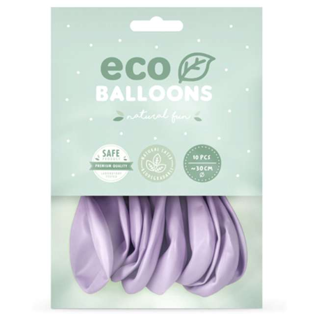 Balony Ekologiczne liliowy metalik Partydeco 12 10 szt
