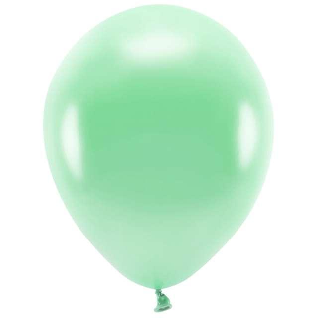 """Balony """"Ekologiczne"""", miętowy metalik, Partydeco, 12"""", 10 szt"""