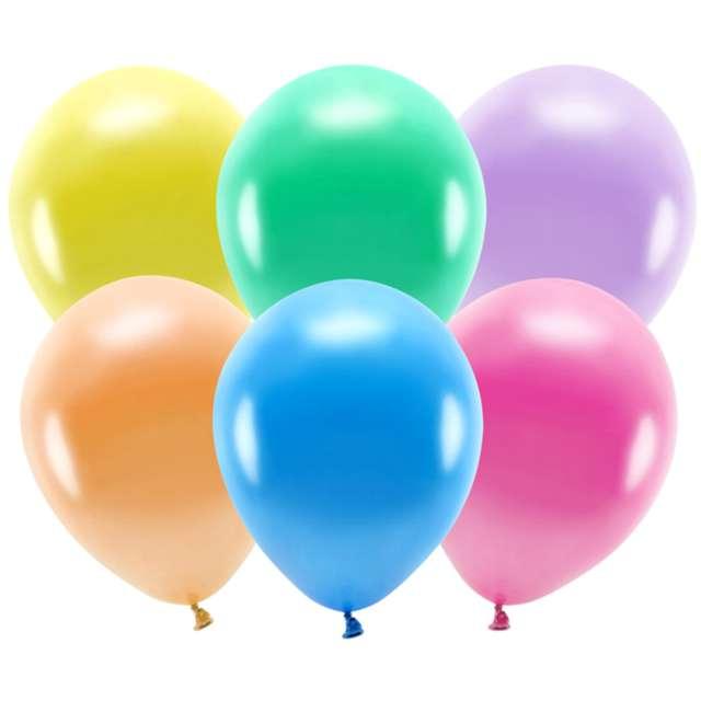 """Balony """"Ekologiczne"""", mix metalik, Partydeco, 12"""", 10 szt"""